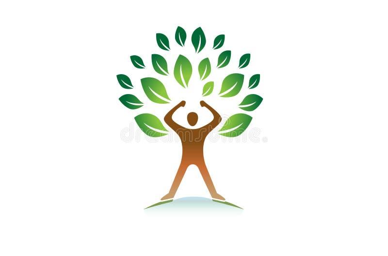 Δημιουργικό ζωηρόχρωμο παιδί χεριών μέσα στο λογότυπο απεικόνιση αποθεμάτων