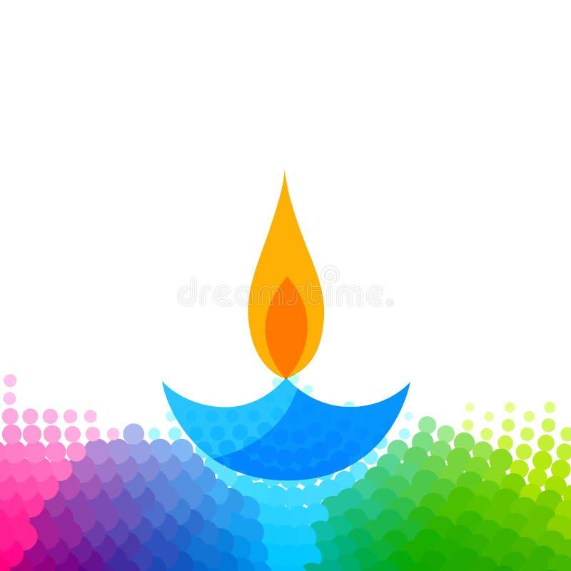 Δημιουργικό ζωηρόχρωμο diya diwali απεικόνιση αποθεμάτων
