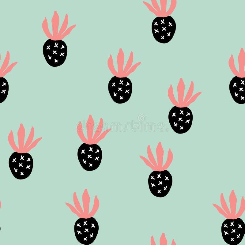 Δημιουργικό καθιερώνον τη μόδα άνευ ραφής σχέδιο με τα φρούτα απεικόνιση αποθεμάτων
