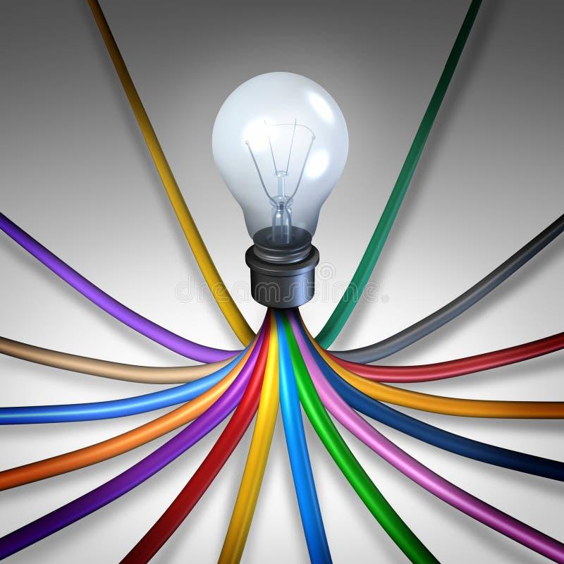 Δημιουργικό κοινοτικό δίκτυο διανυσματική απεικόνιση