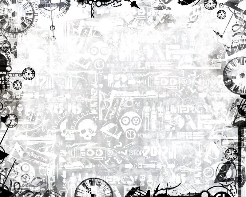 Δημιουργικό μονοχρωματικό άσπρο υπόβαθρο πλαισίων ρολογιών βιομηχανικό απεικόνιση αποθεμάτων
