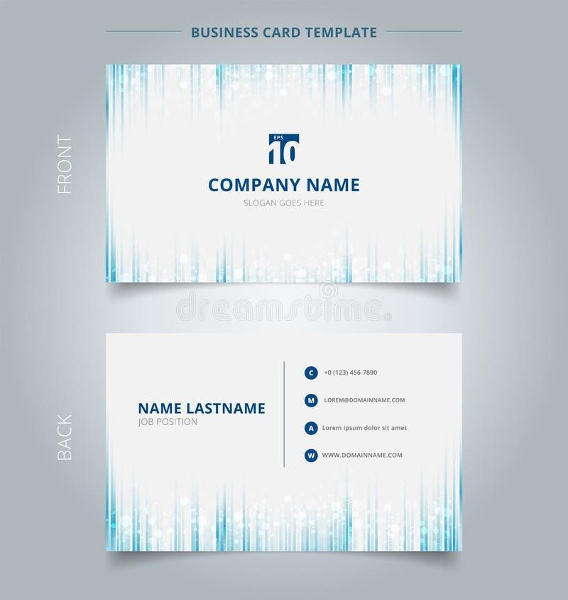 Δημιουργικό μπλε κάθετο lin προτύπων επαγγελματικών καρτών και καρτών ονόματος απεικόνιση αποθεμάτων