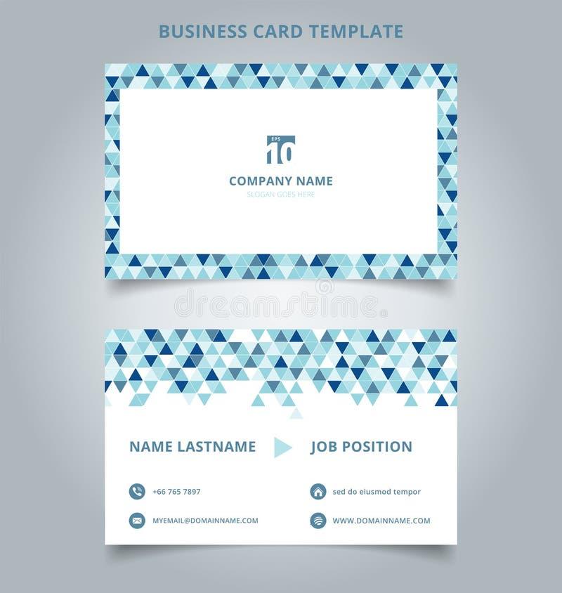 Δημιουργικό μπλε χρώμα προτύπων επαγγελματικών καρτών και καρτών ονόματος σύγχρονο ελεύθερη απεικόνιση δικαιώματος