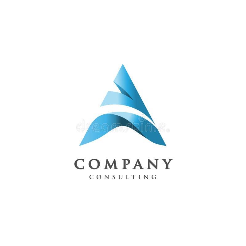 Δημιουργικό λογότυπο γραμμάτων Α διανυσματική απεικόνιση