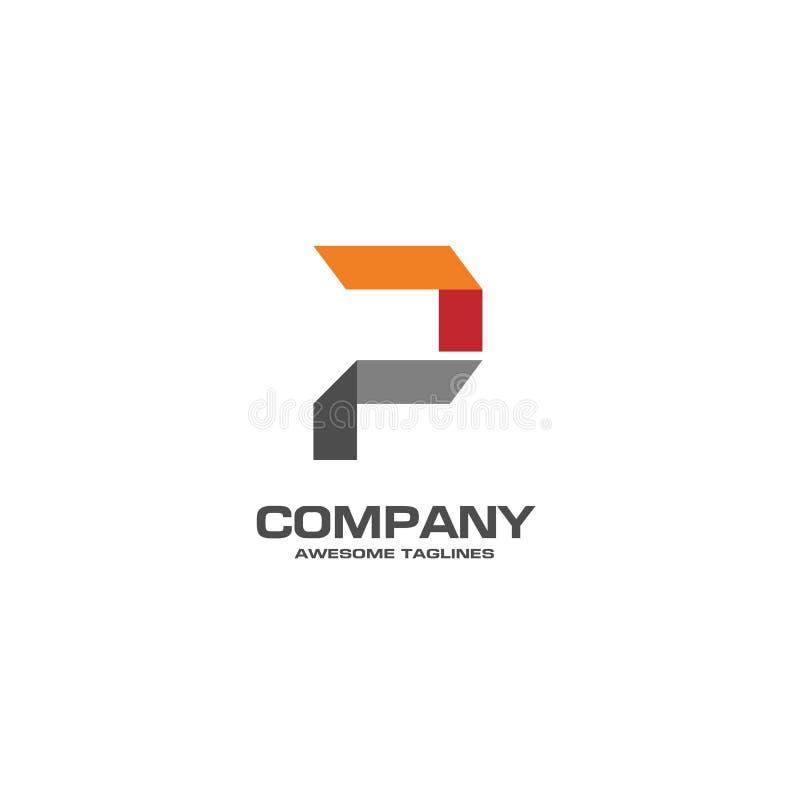 Δημιουργικό λογότυπο γραμμάτων Π διανυσματική απεικόνιση