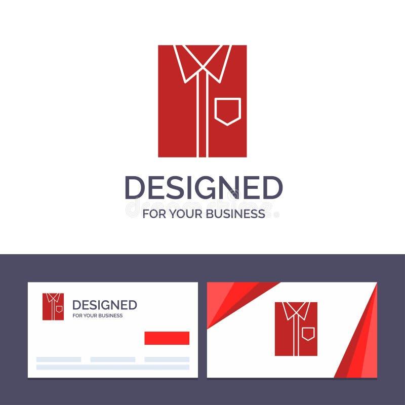 Δημιουργικό πουκάμισο προτύπων επαγγελματικών καρτών και λογότυπων, ύφασμα, ιματισμός, φόρεμα, μόδα, επίσημος, διανυσματική απεικ διανυσματική απεικόνιση