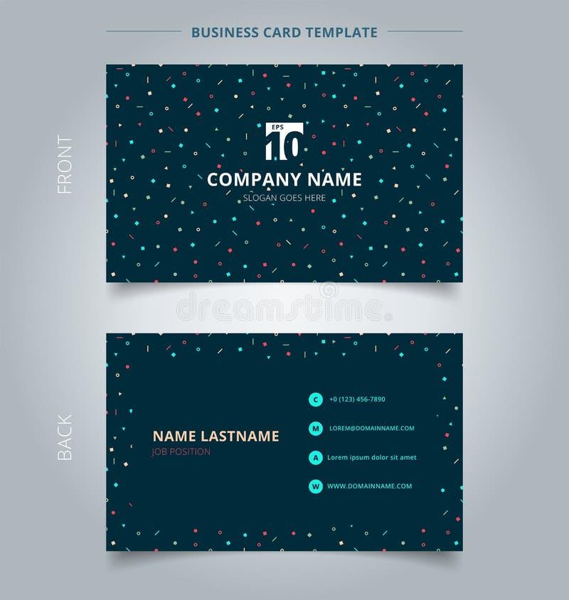 Δημιουργικό πρότυπο απλό γεωμετρικό τ επαγγελματικών καρτών και καρτών ονόματος διανυσματική απεικόνιση