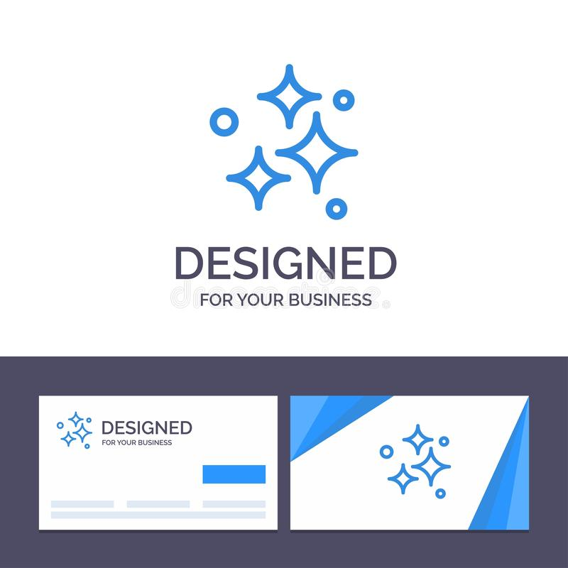 Δημιουργικό πρότυπο επαγγελματικών καρτών και λογότυπων καθαρό, καθαρισμός, τακτοποιημένος, πλύσιμο, πλένοντας διανυσματική απεικ ελεύθερη απεικόνιση δικαιώματος