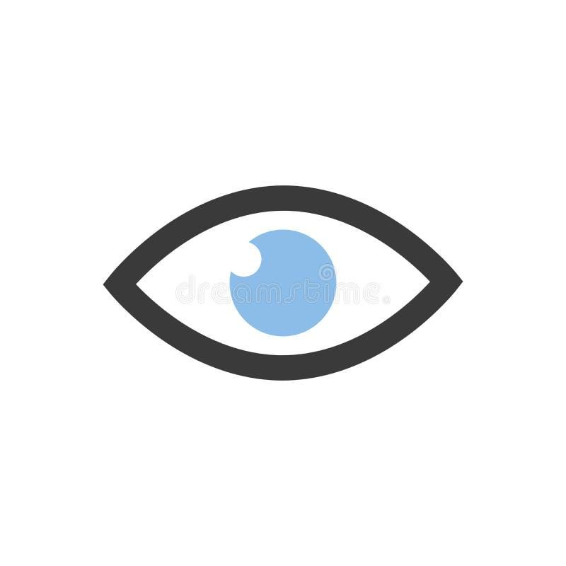 Δημιουργικό πρότυπο σχεδίου λογότυπων έννοιας ματιών διανυσματική απεικόνιση
