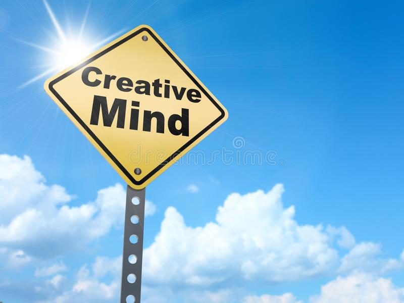 Δημιουργικό σημάδι μυαλού ελεύθερη απεικόνιση δικαιώματος