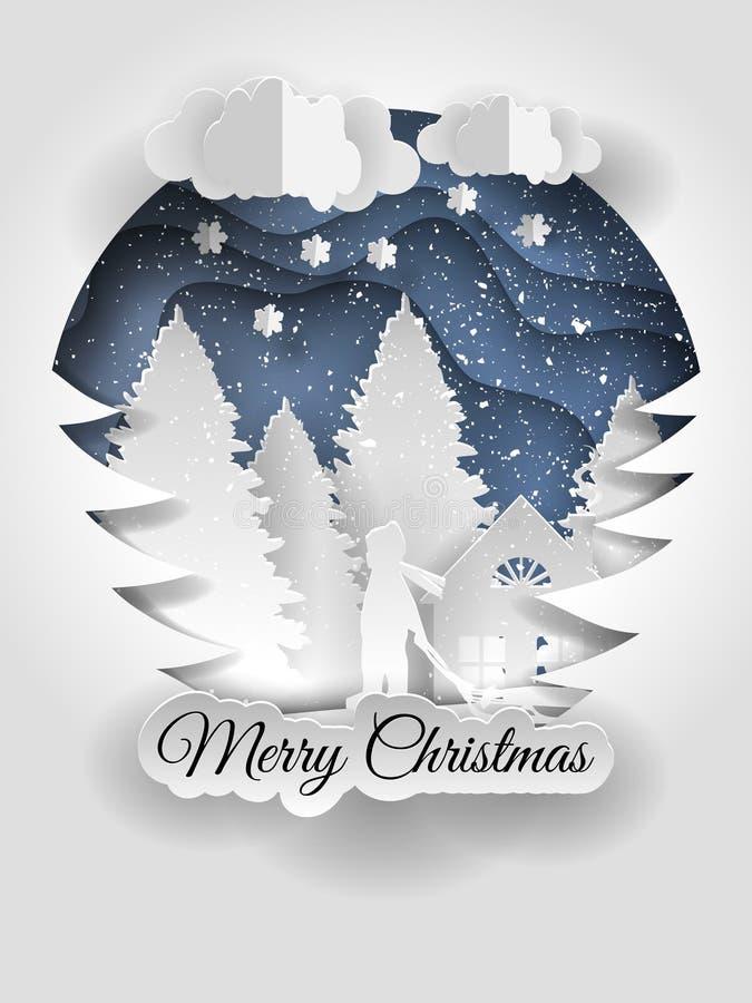 Δημιουργικό σχέδιο καλής χρονιάς 2018 christmas happy merry new year διανυσματική απεικόνιση