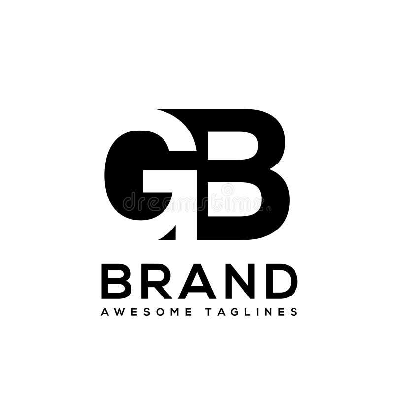 Δημιουργικό σχέδιο λογότυπων γραμμάτων ΜΒ γραπτό ελεύθερη απεικόνιση δικαιώματος