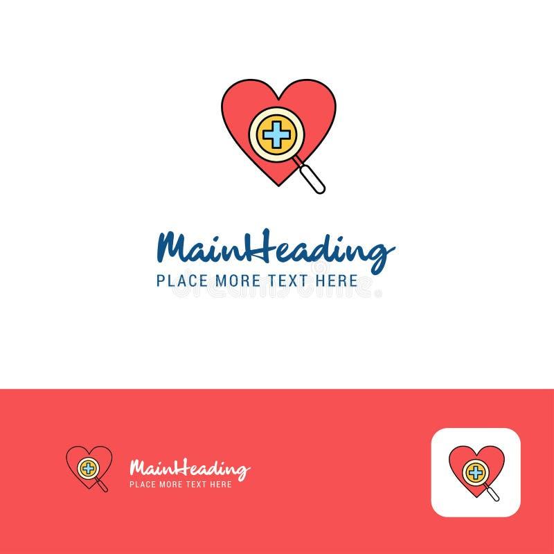 Δημιουργικό σχέδιο λογότυπων καρδιών Επίπεδη θέση λογότυπων χρώματος για Tagline επίσης corel σύρετε το διάνυσμα απεικόνισης ελεύθερη απεικόνιση δικαιώματος