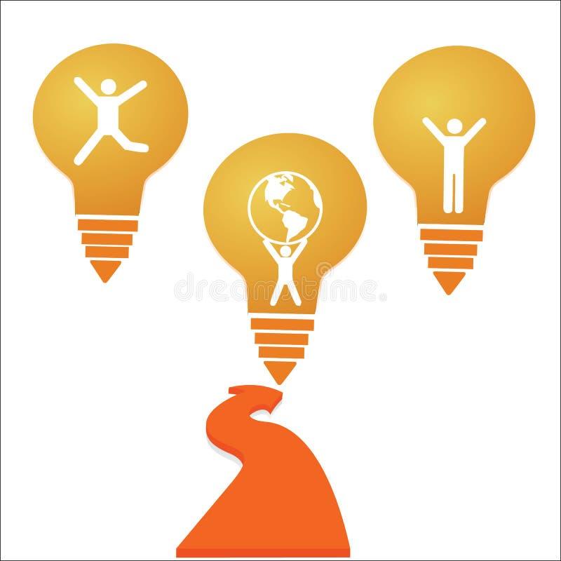 Δημιουργικό σχέδιο υποβάθρου έννοιας ιδέας επιτυχίας λαμπών φωτός διανυσματική απεικόνιση