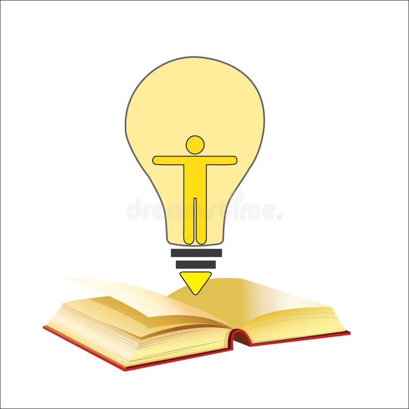 Δημιουργικό σχέδιο υποβάθρου έννοιας ιδέας επιτυχίας βιβλίων λαμπών φωτός ελεύθερη απεικόνιση δικαιώματος