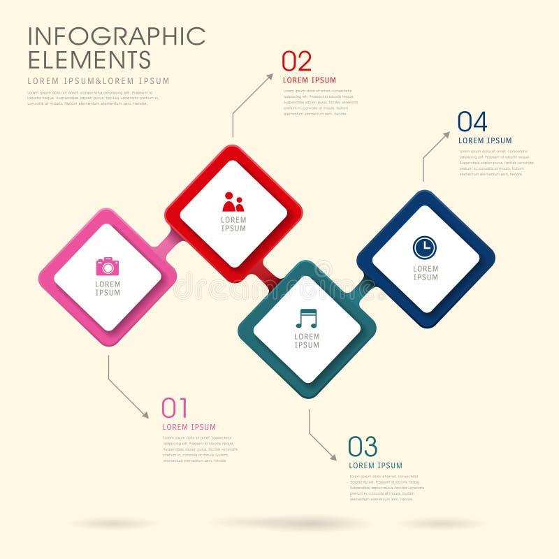 Δημιουργικό σχέδιο infographics ρόμβων ελεύθερη απεικόνιση δικαιώματος