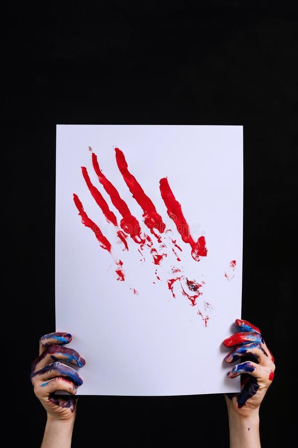 Δημιουργικό σύγχρονο έργο τέχνης έμπνευσης χόμπι στοκ φωτογραφία