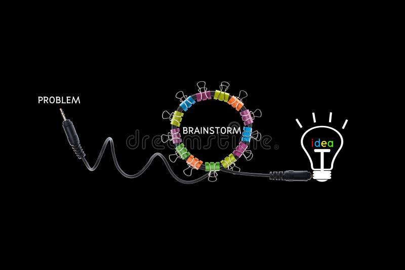 Δημιουργικό σύγχρονο σχέδιο έννοιας καταιγισμού ιδεών, επιχειρησιακή έννοια στοκ εικόνες