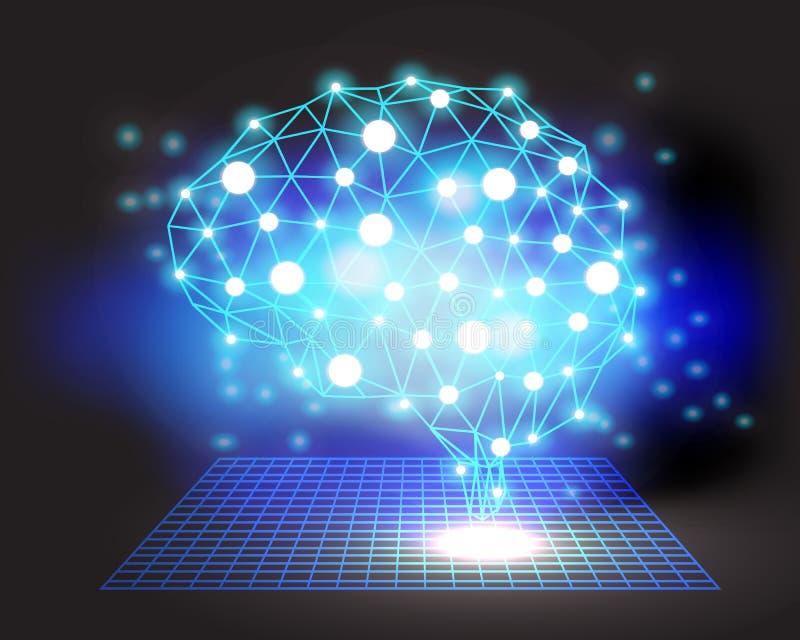 Δημιουργικό υπόβαθρο έννοιας εγκεφάλου απεικόνιση αποθεμάτων