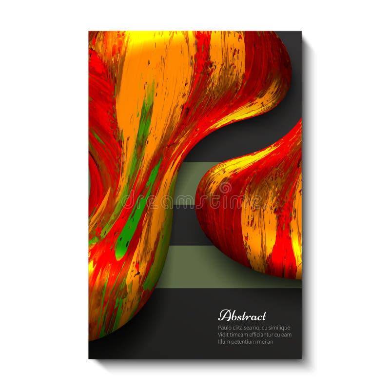 Δημιουργικό, φωτεινό, καθολικό, αφηρημένο σχέδιο καρτών Σκοτεινή ανασκόπηση Κόκκινο με κίτρινο διανυσματική απεικόνιση