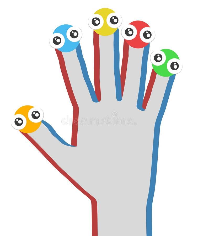δημιουργικό χέρι σχεδίου διανυσματική απεικόνιση