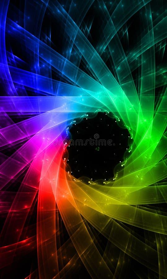 Δημιουργικό χρώμα υποβάθρου με την επίδραση ουράνιων τόξων στοκ εικόνα