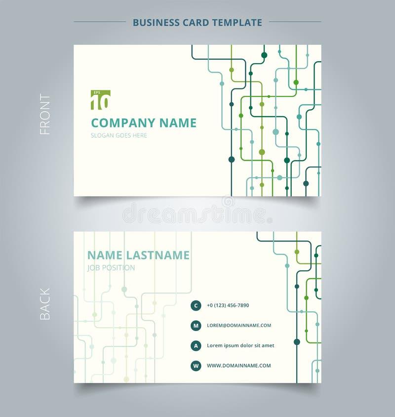 Δημιουργικό backgro τεχνολογίας προτύπων επαγγελματικών καρτών και καρτών ονόματος διανυσματική απεικόνιση