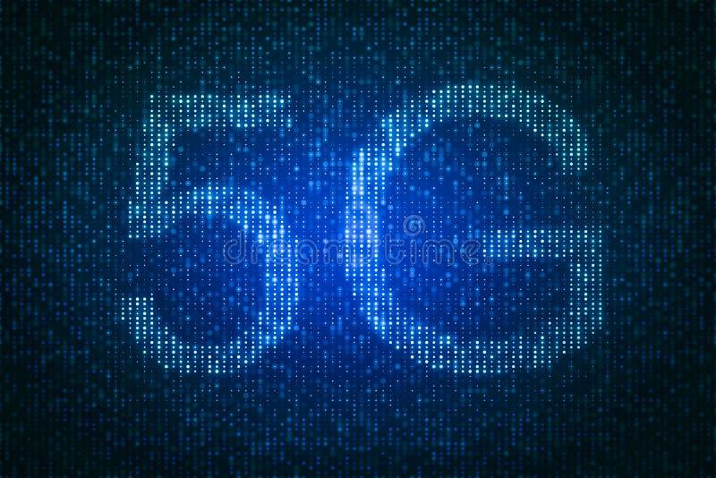 Δημιουργικό 5G σκηνικό ελεύθερη απεικόνιση δικαιώματος