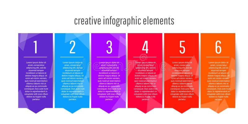 Δημιουργικό infographic infographic σχέδιο προτύπων για τις επιχειρησιακές παρουσιάσεις σας ελεύθερη απεικόνιση δικαιώματος