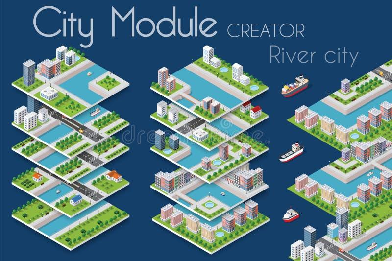 Δημιουργός ενότητας πόλεων απεικόνιση αποθεμάτων