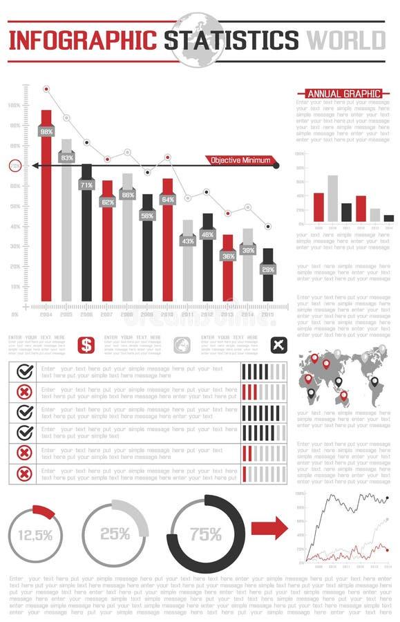 Δημογραφικό διάγραμμα στοιχείων Infographic και γραφικός απεικόνιση αποθεμάτων