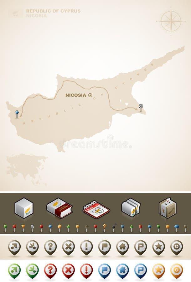Δημοκρατία της Κύπρου διανυσματική απεικόνιση