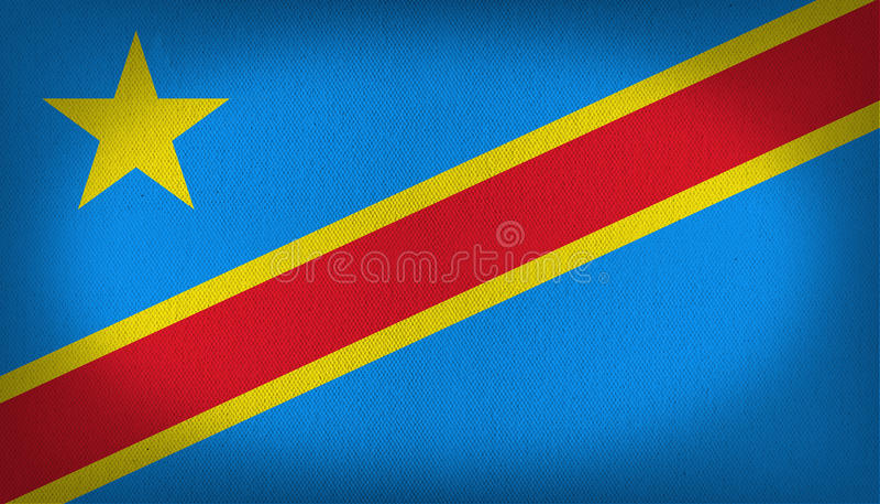 Δημοκρατία της σημαίας του Κογκό διανυσματική απεικόνιση