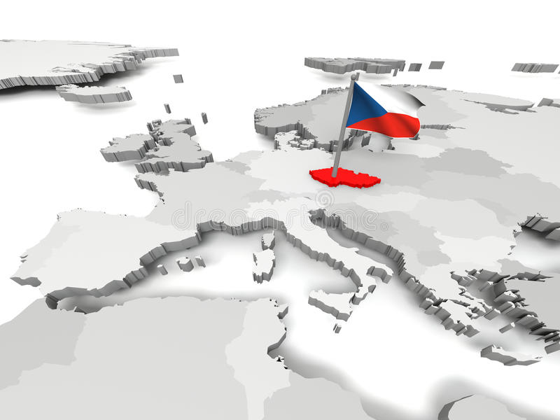 Δημοκρατία της Τσεχίας ελεύθερη απεικόνιση δικαιώματος