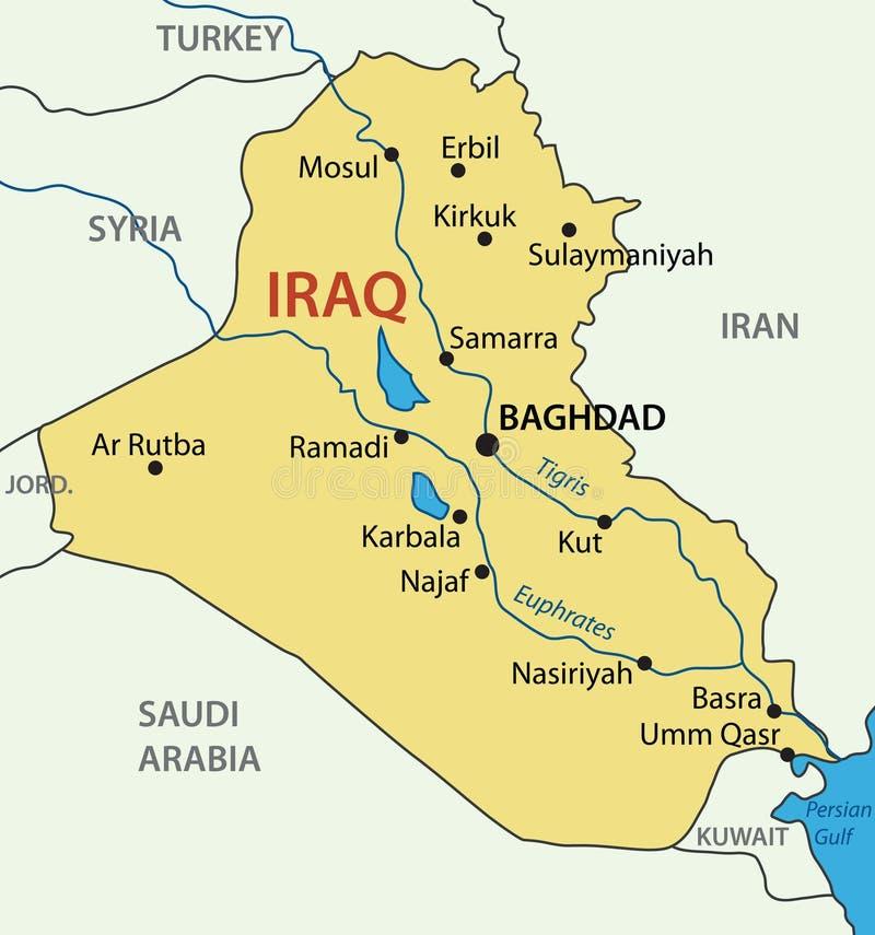 Δημοκρατία του Ιράκ - διανυσματικός χάρτης απεικόνιση αποθεμάτων