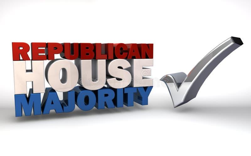 Δημοκρατική πλειοψηφία σπιτιών ελεύθερη απεικόνιση δικαιώματος