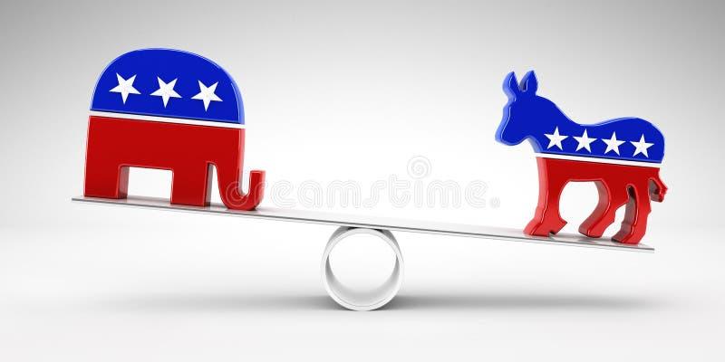 Δημοκρατικός ή δημοκράτης ψηφοφορίας ελεύθερη απεικόνιση δικαιώματος
