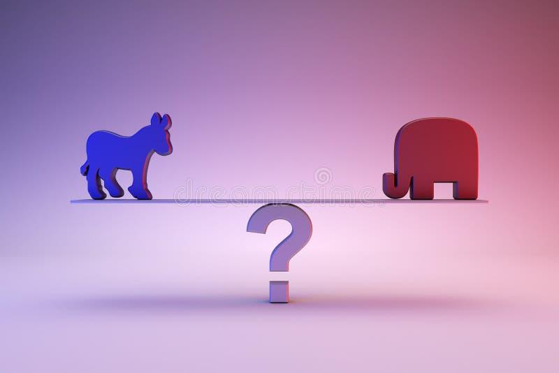 Δημοκρατικός ή δημοκράτης ελεύθερη απεικόνιση δικαιώματος