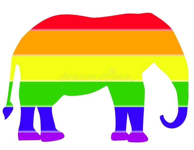 Δημοκρατικός ελεφάντων διανυσματική απεικόνιση
