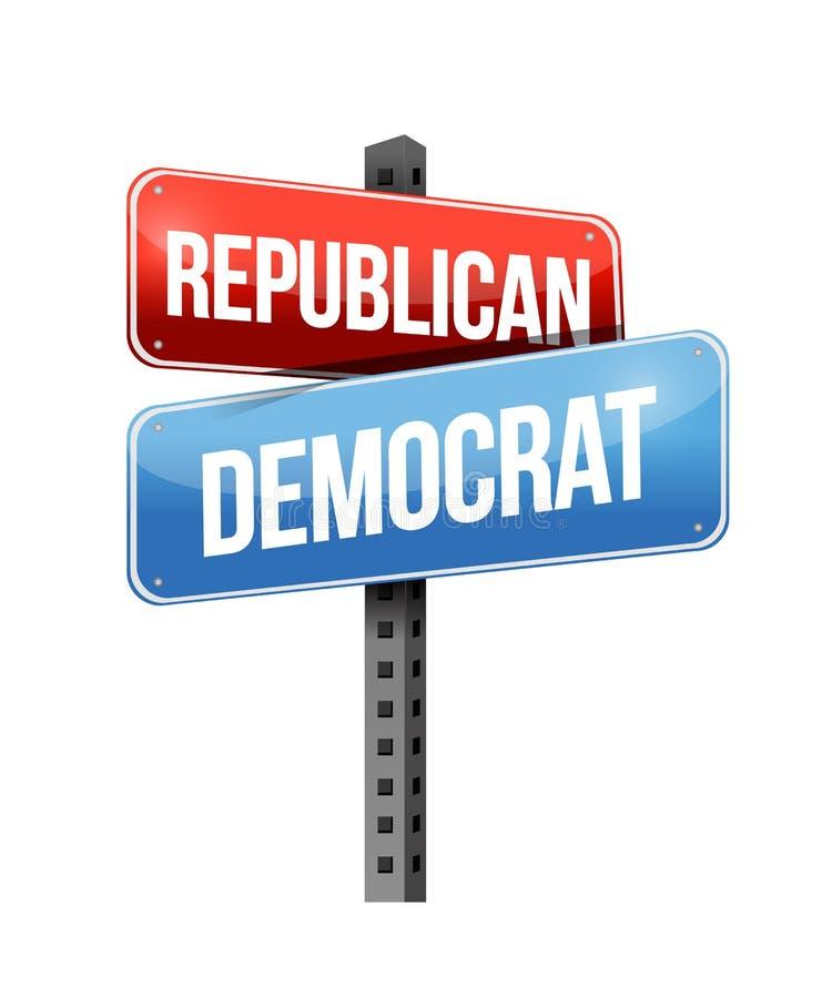 Δημοκρατικός, δημοκράτης απεικόνιση αποθεμάτων