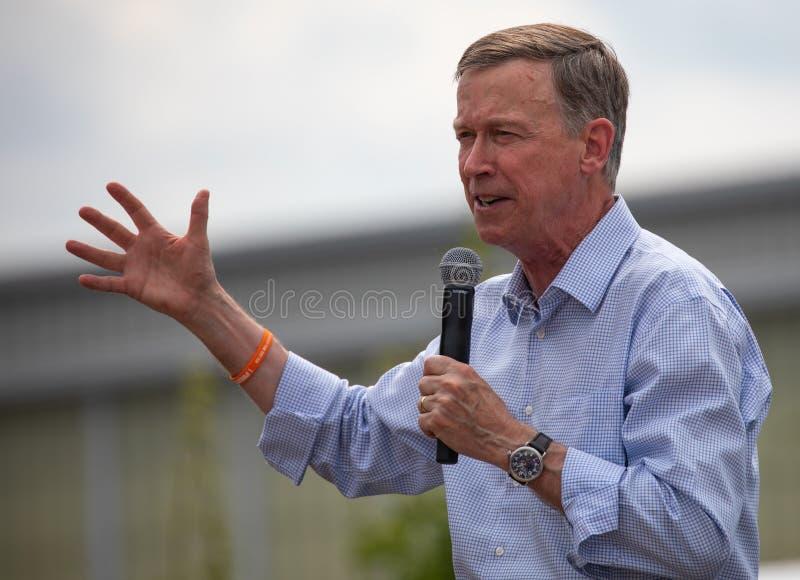 Δημοκρατικός κυβερνήτης John Hickenlooper του Κολοράντο στοκ φωτογραφίες