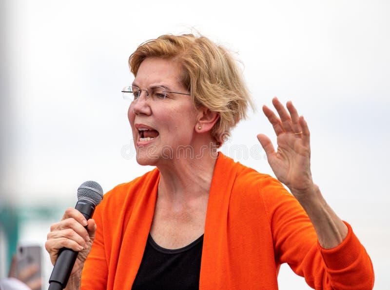 Δημοκρατικός προεδρικός υποψήφιος Elizabeth Warren στοκ φωτογραφίες με δικαίωμα ελεύθερης χρήσης