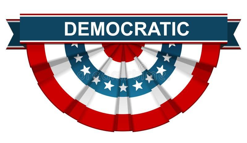 Δημοκρατικός στη αμερικανική σημαία ελεύθερη απεικόνιση δικαιώματος