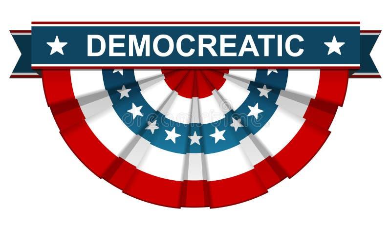 Δημοκρατικός στη αμερικανική σημαία απεικόνιση αποθεμάτων