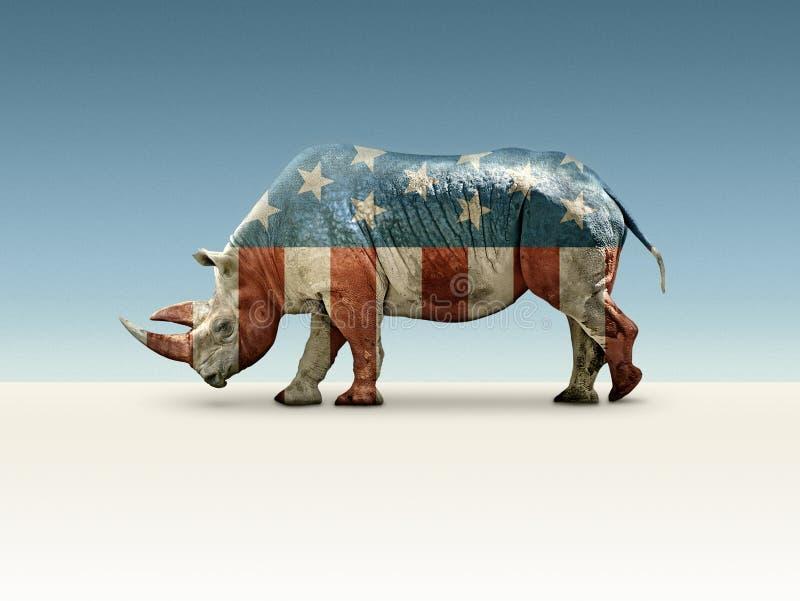 Δημοκρατικός στο όνομα μόνο διανυσματική απεικόνιση