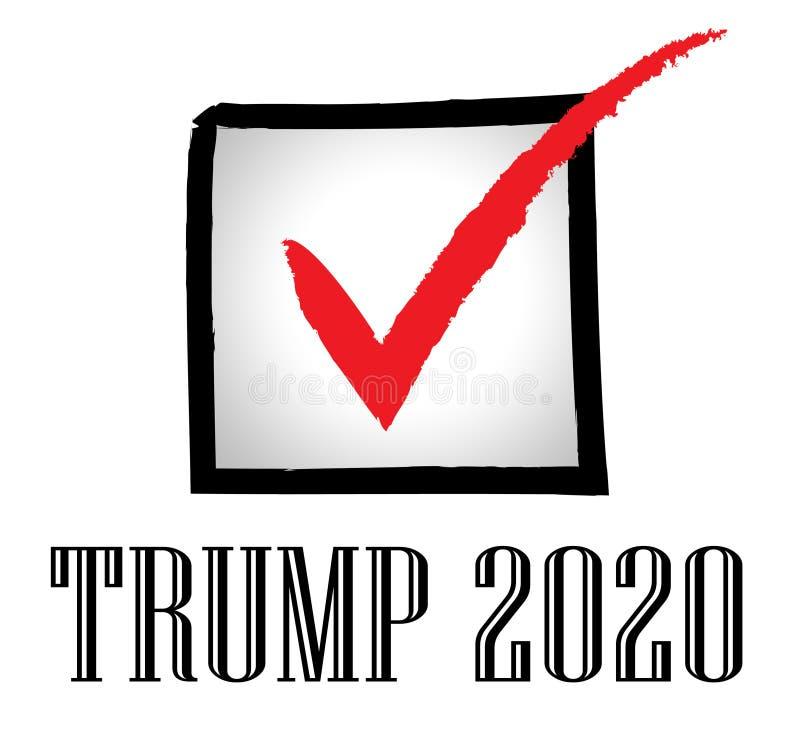 Δημοκρατικός υποψήφιος ατού 2020 για τον Πρόεδρο Nomination - 2$α απεικόνιση διανυσματική απεικόνιση