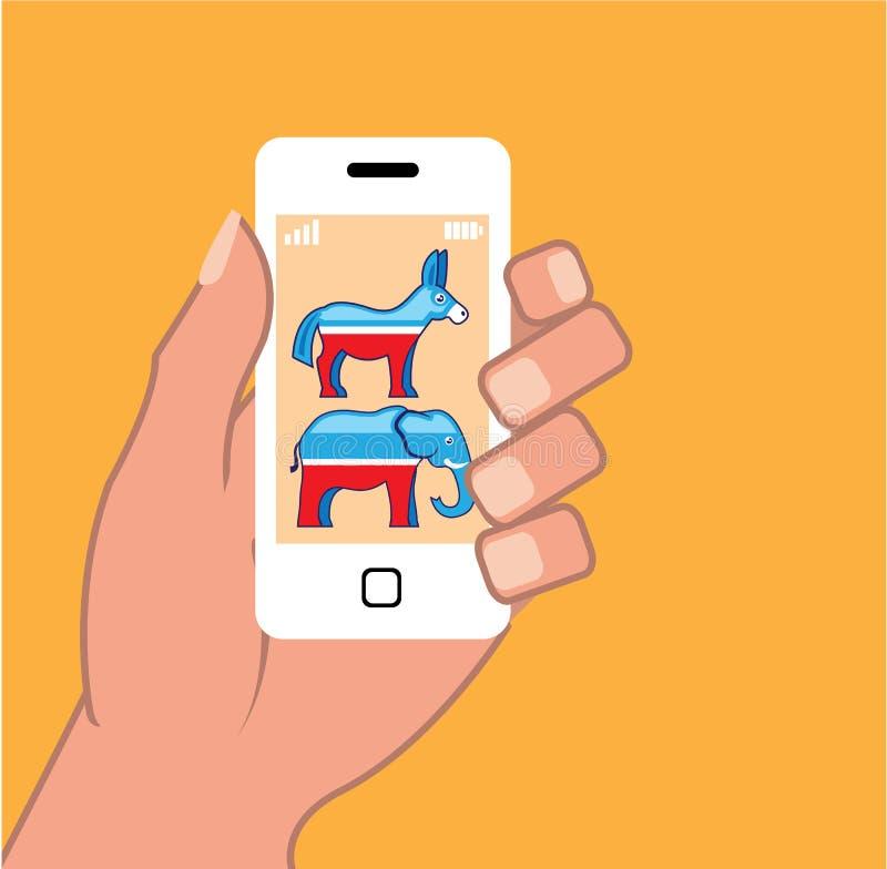 Δημοκρατικό διάνυσμα Smartphone δημοκρατών απεικόνιση αποθεμάτων