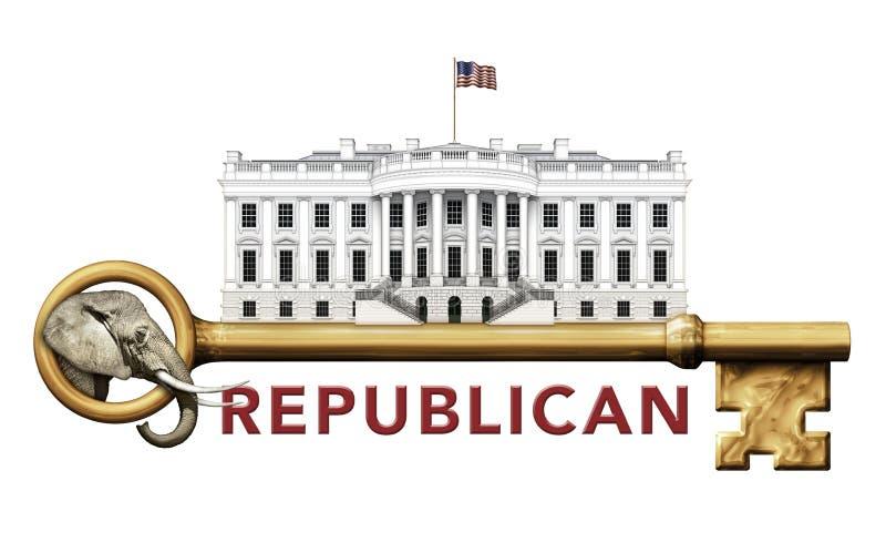 Δημοκρατικό κλειδί για το Λευκό Οίκο διανυσματική απεικόνιση