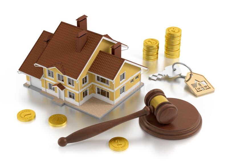 Δημοπρασία ακίνητων περιουσιών ελεύθερη απεικόνιση δικαιώματος