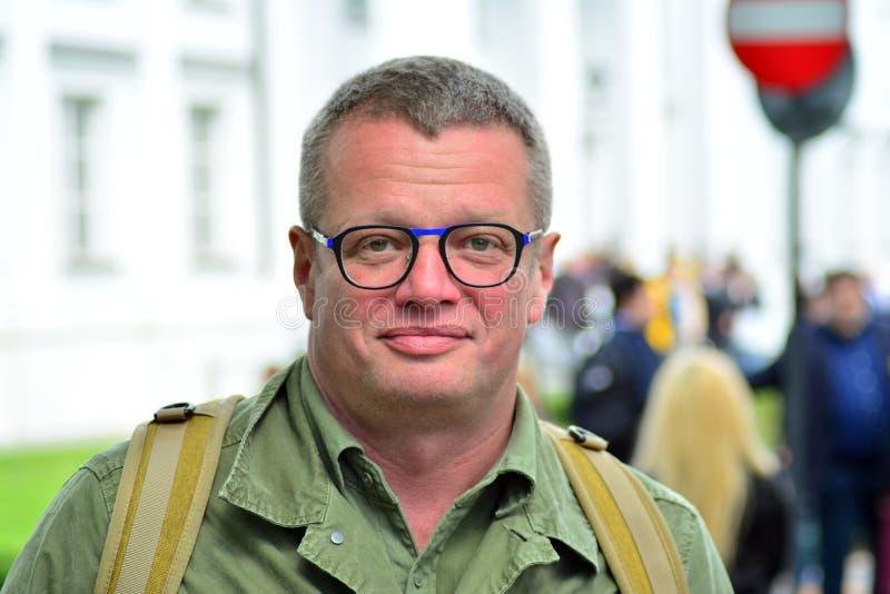 Δημοσιογράφος και πολιτικός αρθρογράφος Marcin Meller στοκ εικόνα με δικαίωμα ελεύθερης χρήσης